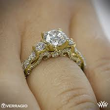 yellow gold engagement ring verragio braided 3 engagement ring 1996