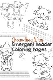groundhog day emergent reader coloring pages simple fun for kids