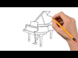 the piano and the piano things pencil to draw step by step youtube