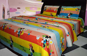 Double Cot Bed Sheets Online India Buy Riyasat 5d Kids Mickey Mouse Printed Double Bed Sheet Set