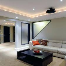 Ideas For Unfinished Basement Basement Lighting Ideas Low Ceiling For Light Unfinished Image Of