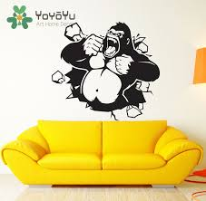 aliexpress com buy gorilla monkey wall decal art decor sticker aliexpress com buy gorilla monkey wall decal art decor sticker vinyl art gorilla decal king kong monkey decal living room decor poster ny 87 from reliable