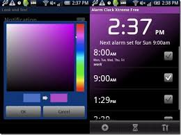 color themes for android android alarm clock app xtreme