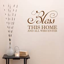 bless this home wall sticker by mirrorin notonthehighstreet com bless this home wall sticker