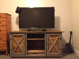 Rustic Tv Console Table Rustic Tv Console Table This Was My Project From Scratch I