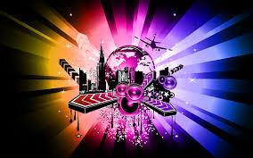 abstract art music theme wallpaper