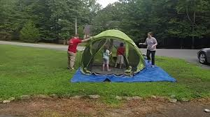 coleman evanston 6 screened porch tent setup and teardown youtube