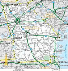 Georgia South Carolina Map Popular 230 List Road Map Of Georgia