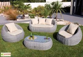 canape jardin resine tressee salon jardin resine table de jardin maison boncolac
