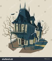 spooky halloween house vector illustration stock vector 154236479