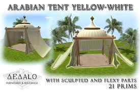 arabian tent second marketplace arabian tent yellow white