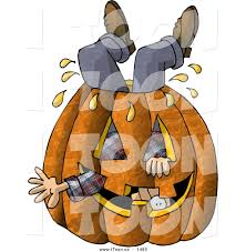 free halloween images on white background cartoon man stuck inside a big halloween pumpkin with a carved