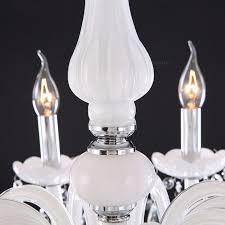 Indoor Pendant Lights Modern Led White Crystal Chandelier Ceiling Light Lamp For Living