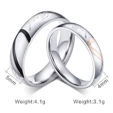 cheap heart rings images Valentine 39 s day jewelry heart couple rings men and women lovers jpg