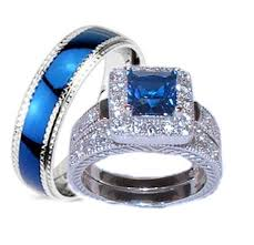 his and hers wedding sets blue wedding ring set sapphire wedding ring sets blue wedding ring