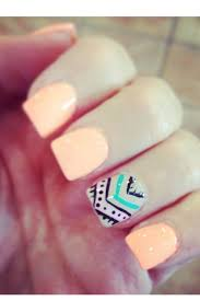 nails tribal nails light color with aztec ring finger