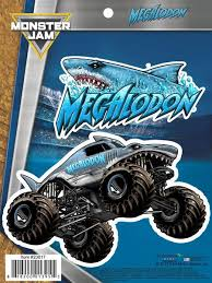 monster jam megalodon truck decals car stickers u2013 decalcomania