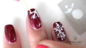 opallac gel polish snowflakes nail art youtube