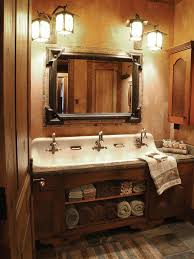 photos hgtv rustic bathroom with three faucet washbasin loversiq