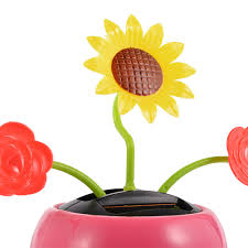 sale solar powered dancing flip flap flower pot style toy home