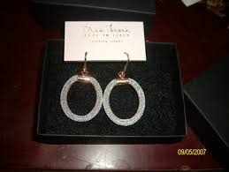 dyadema earrings free new fiore dyadema italy sterling mesh hoops earrings
