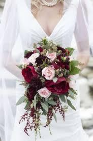 Popular Bridal Bouquet Flowers - cascading berry red bouquet flower arrangements and weddings