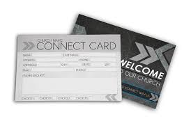 pledge cards template church connect card gray digital316 net