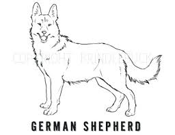 coloring pages german shepherd coloring pages printable