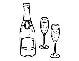 disegni bicchieri disegno di chagne e bicchieri da colorare acolore