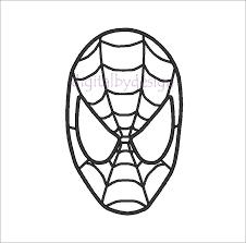 drawn spiderman mask pencil color drawn spiderman mask