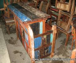 Reclaimed Wood Bar Table 30 Bali Boat Wood Furniture Bar Table