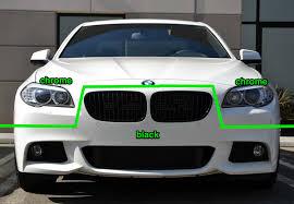 bmw black grill white car with black vs chrome kidney grills bimmerfest bmw forums