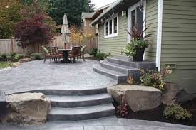 Cement Designs Patio Concrete Cement Backyard Ideas Patio Ideas For Small Backyards