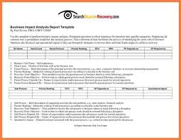 7 business impact analysis report template progress report
