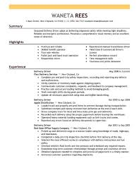 exle of a great resume delivery driver resume sle driver resumes livecareer
