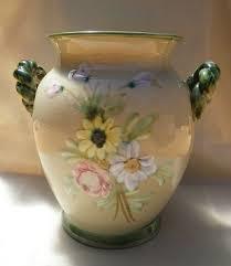 Denby Vase Pottery English Porcelain Gorgeous Vintage Bourne Denby England Art