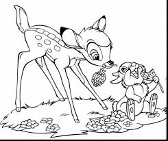 spectacular skunk coloring pages printable bambi coloring