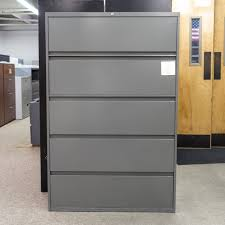 Steelcase Lateral File Cabinets Used Steelcase 5 Drawer 42 Lateral File Cabinet Gray Fil1557