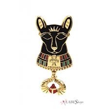 cat home decor egyptian cat goddess bast black cat necklace with chain bastet