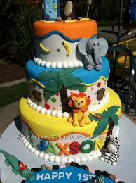 zoo themed birthday cake zoo themed birthday cake