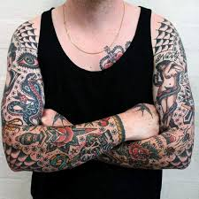 100 american traditional tattoos for men old designs