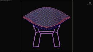 3d model diamond chair harry bertoia knoll studio vr ar low