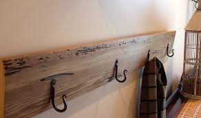 decorations industrial idea of coat rack by iron and wooden