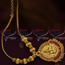 gold short chain necklace images Nl8567 kemp red traditional gold design temple pendant beads roll JPG