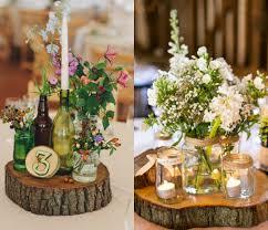 wood centerpieces wooden slab for wedding centerpiece ideas weddceremony