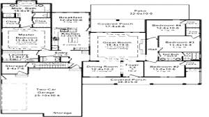 4 bedroom house plans 1 story 5 3 2 bath floor best farmhouse