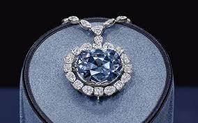 blue diamond necklace gem images The history of the hope diamond jpg