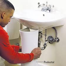 How To Fix Leak Under Bathroom Sink Pedestal Sink Repair Westminster Pedestal Sink Home Depot By