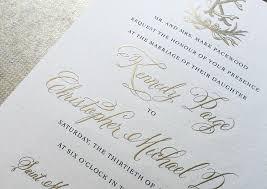 engraved wedding invitations kennedy christopher s classic gold engraved wedding invitations