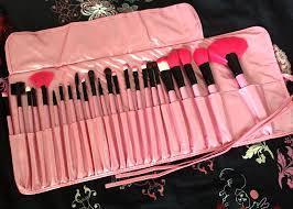 makeup brush set 24 piece with vegan leather case brushes c o dresslink m a c professional